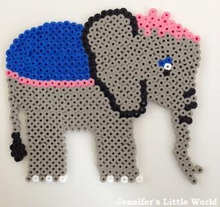 Mrs Jumbo from Dumbo in Hama beads