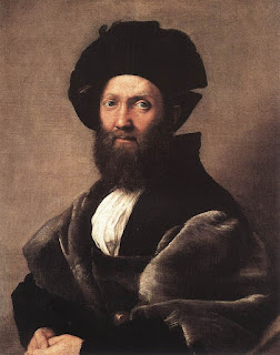 The portrait of Castiglione can be seen in the Louvre gallery in Paris