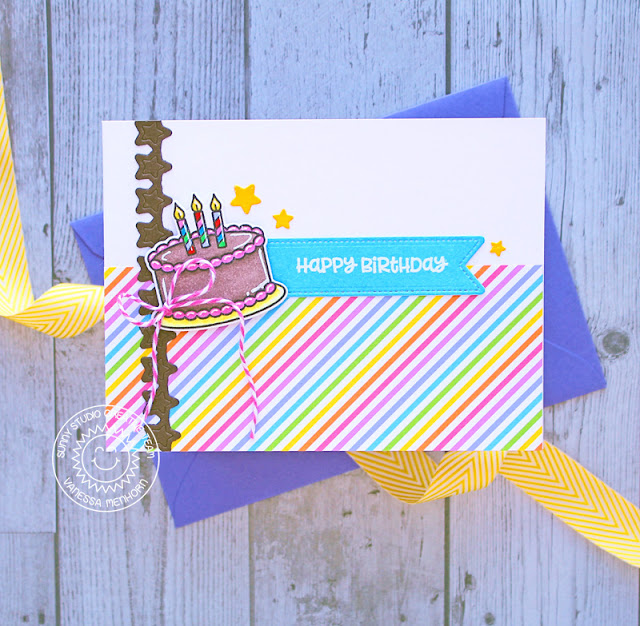 Sunny Studio Stamps: Make A Wish Card by Vanessa Menhorn