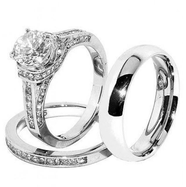 Cheap Wedding Rings His And Hers Sets