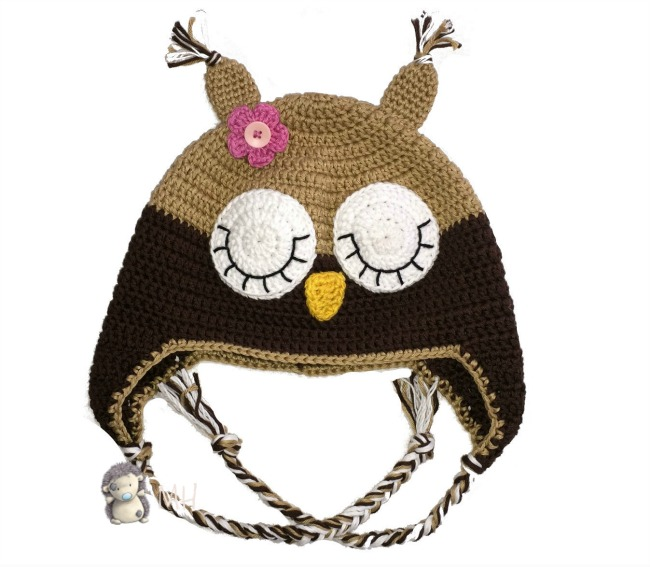 Gorro búho a crochet