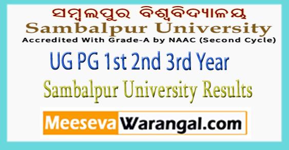 Sambalpur University UG PG BA B.SC B.Com BBA BCA LLB 1st 2nd 3rd Year Results 2017