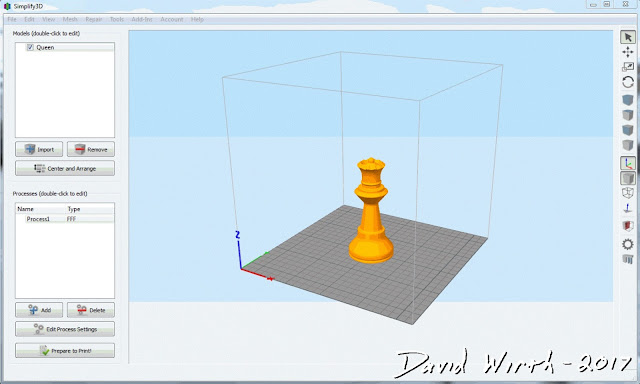 simplify3d menu, settings, gcode, pla, abs