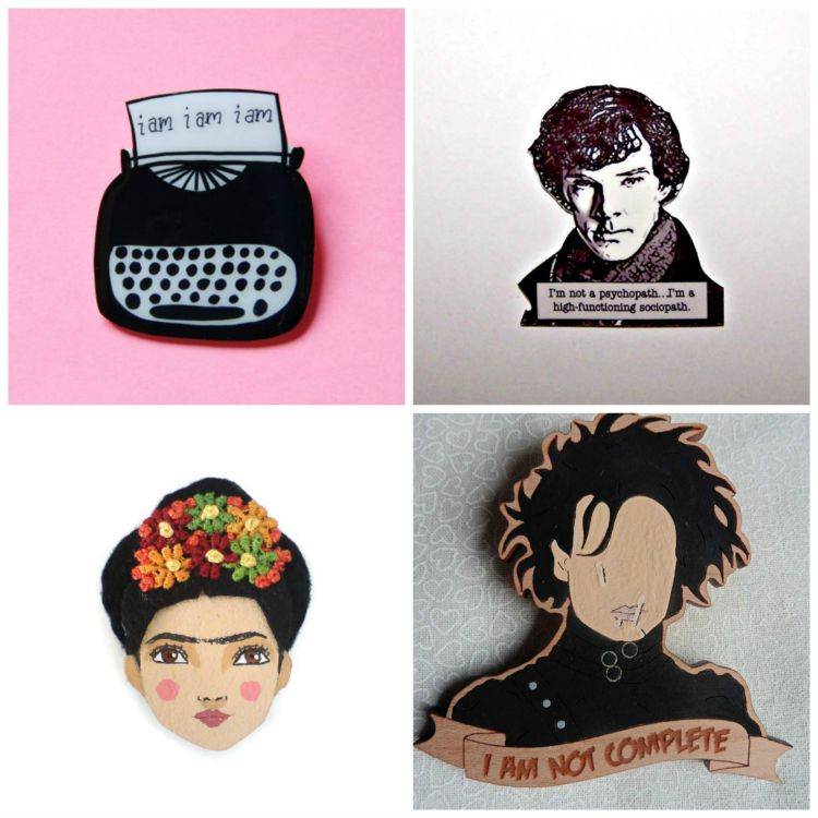A Vintage Nerd, Novelty Brooches, Pop Culture Brooches, Vintage Blog