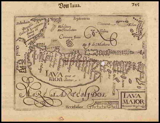 Peta Pulau Jawa Kuno Pertama - Iava Maior Karya Barent Langenes 1612