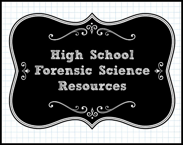 High School Forensic Science Course Resources (homeschool)