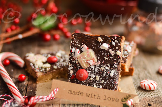 Peppermint Blondie made with leftover Holiday Candies