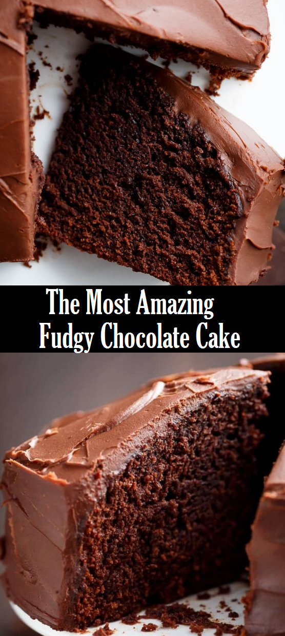 The Most Amazing Fudgy Chocolate Cake