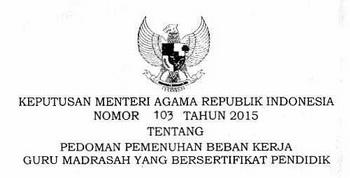 Kepmenag 103/2015