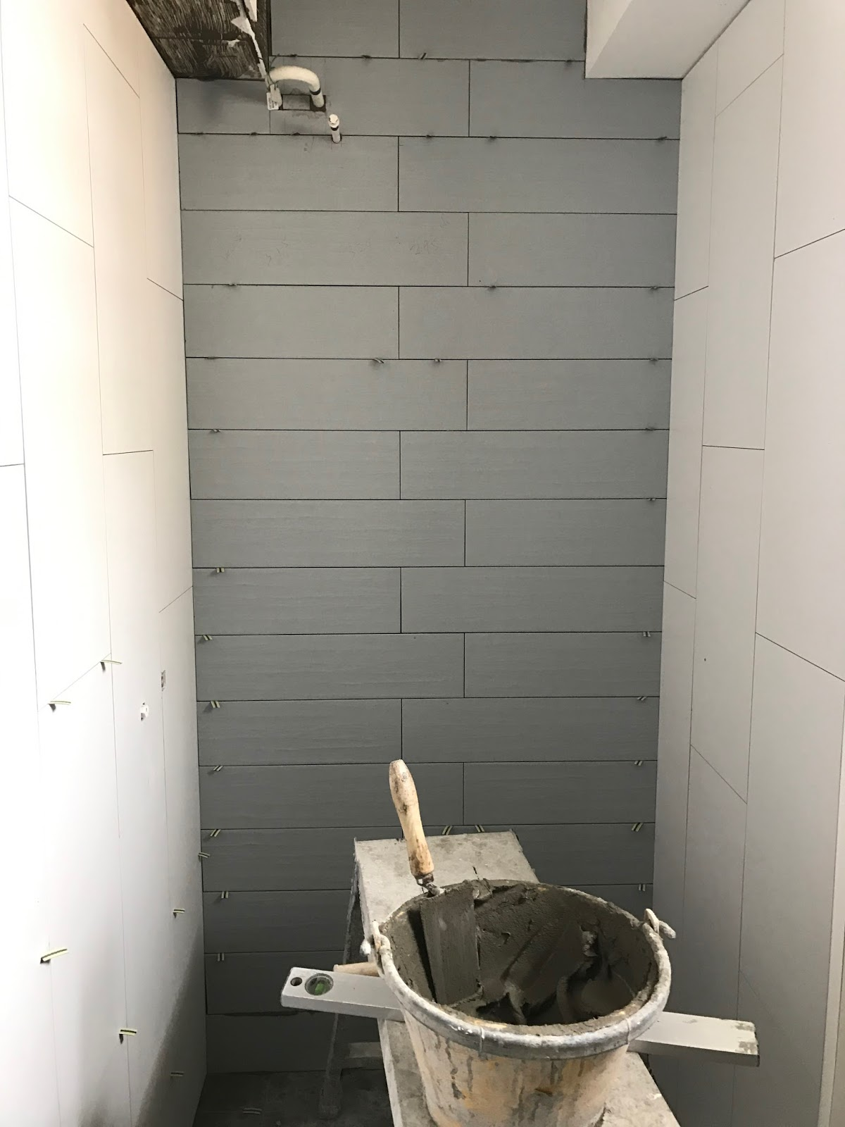 Part 4 renovation common toilet l mbr toilet r with overlay floor wall tiles dailygadgetfo Images