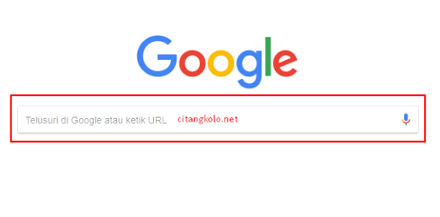 Menggunakan Chrome - Pencarian dengan kata Kunci