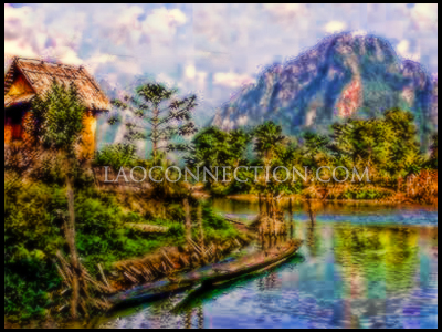 Random awesome image #7 - Lao countryside painting