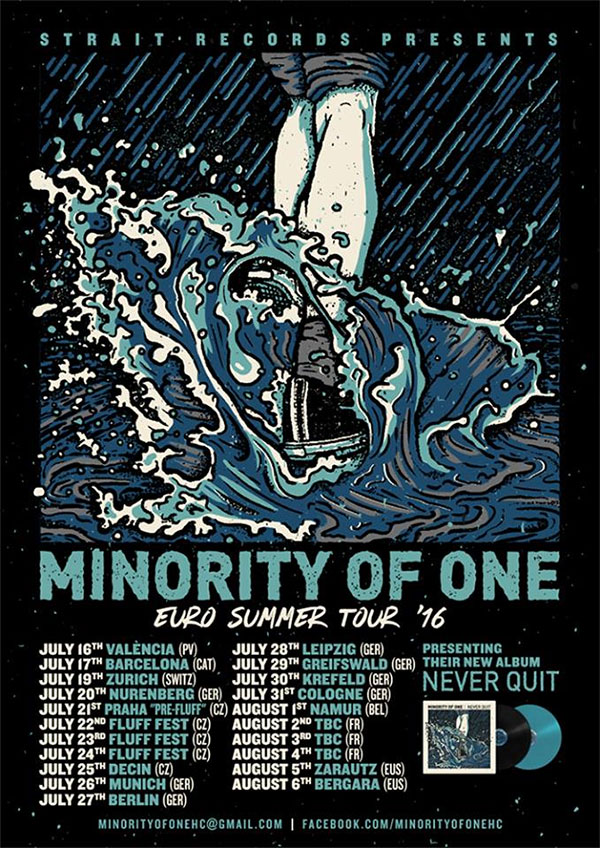 Minority Of One announce Euro Summer Tour 2016