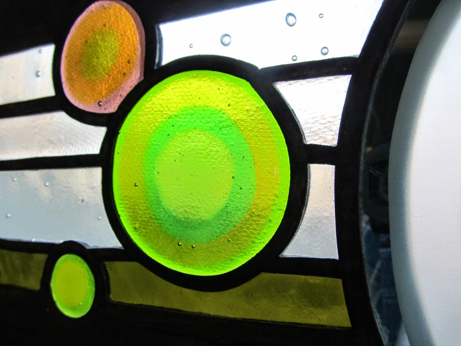 vitrážové  zrcadlo