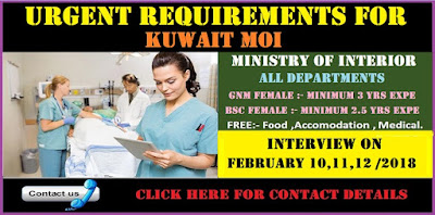 URGENT REQUIREMENTS FOR MOI (Ministry of Interior)– KUWAIT