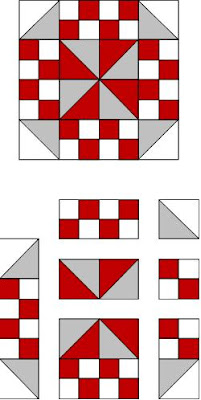 Red and White Quilt Pattern Tutorial