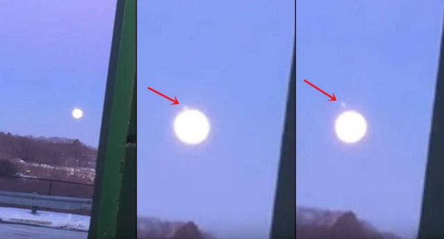 UFO News ~ Footage of Bright UFO Leaving the Moon plus MORE Bright%2Bufo%2Bmoon
