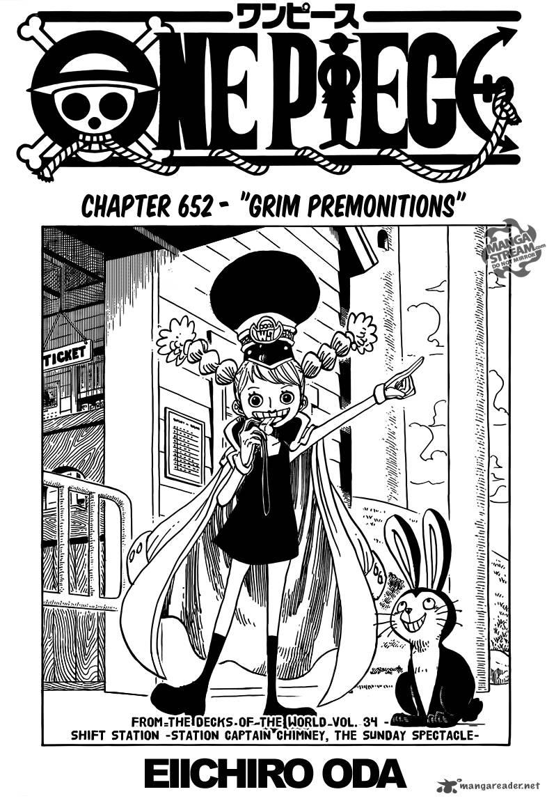 One Piece 652 - Grim Premonitions