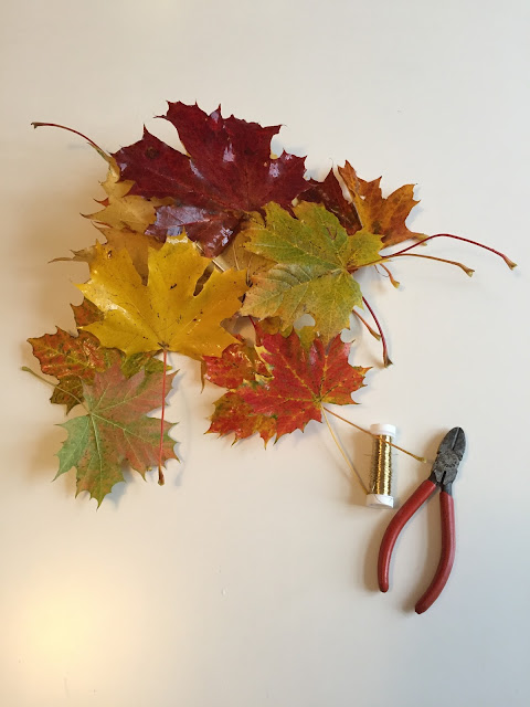 Pyssla med löv