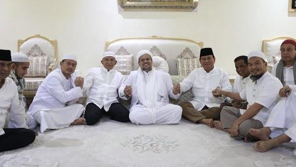 Diminta Jadi Capres, Begini Respon HRS di Depan Prabowo dan Amien Rais