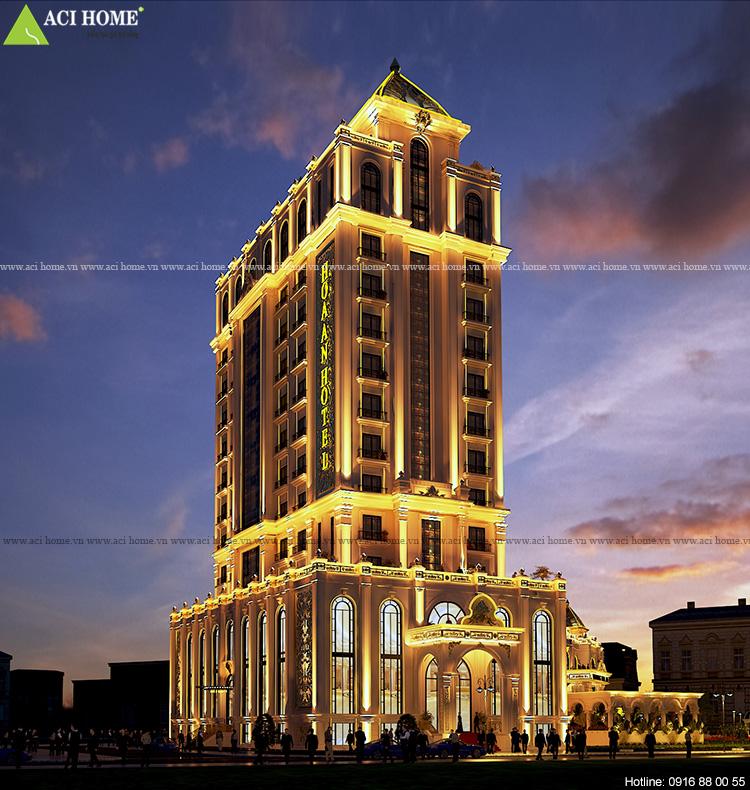 Thiết kế khách sạn kiểu Pháp tại Bình Thuận