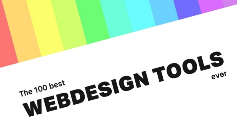The 100 Best Web Design Tools Ever - infographic