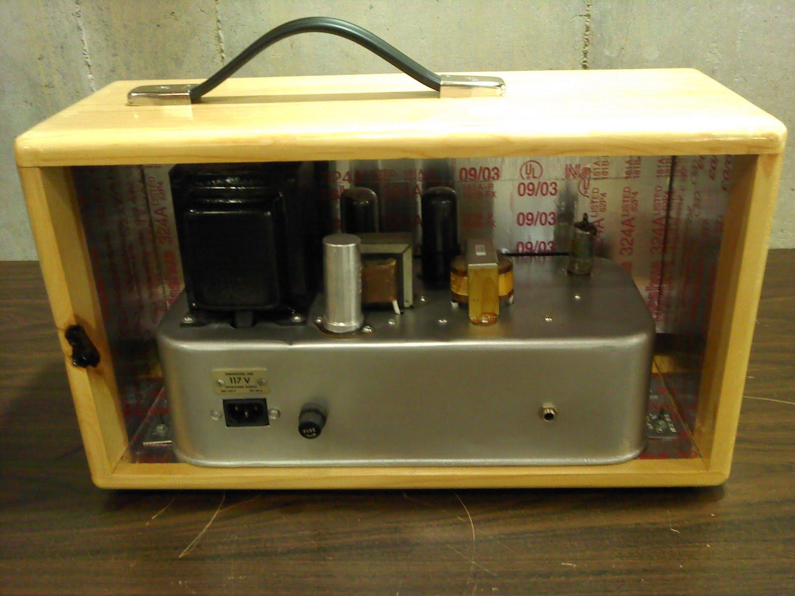 diy guitar amp champ amp now in cabinet. Black Bedroom Furniture Sets. Home Design Ideas