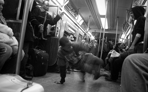 Subway dancers in NYC