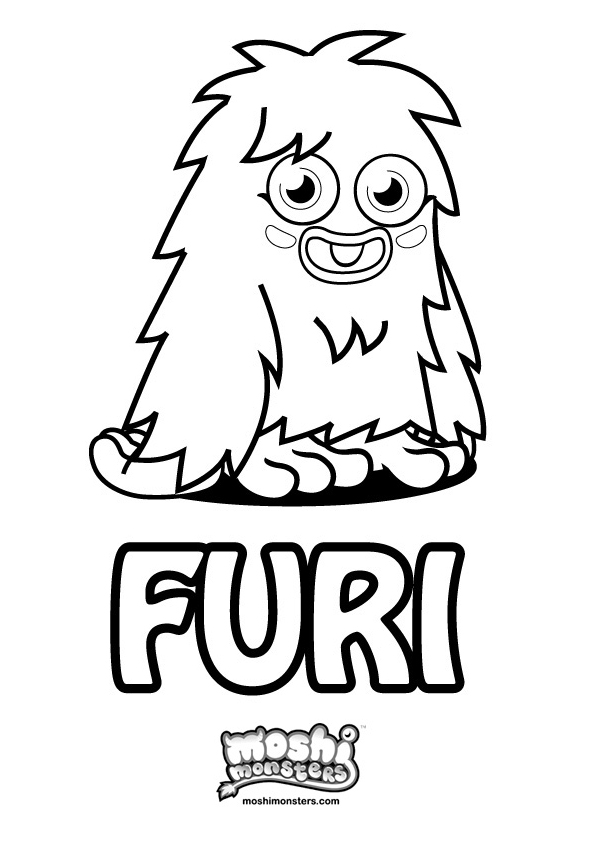Moshi Monsters Free A4 Coloring In Monsters