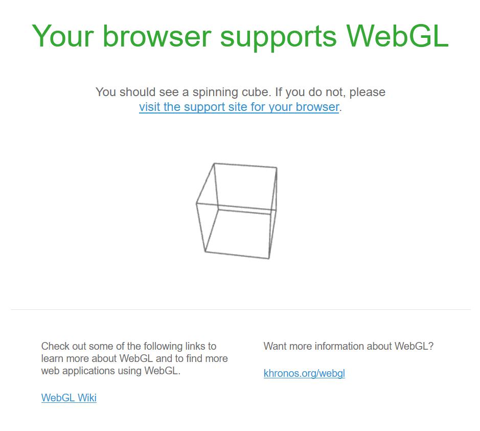 webgl a rencontré un problème