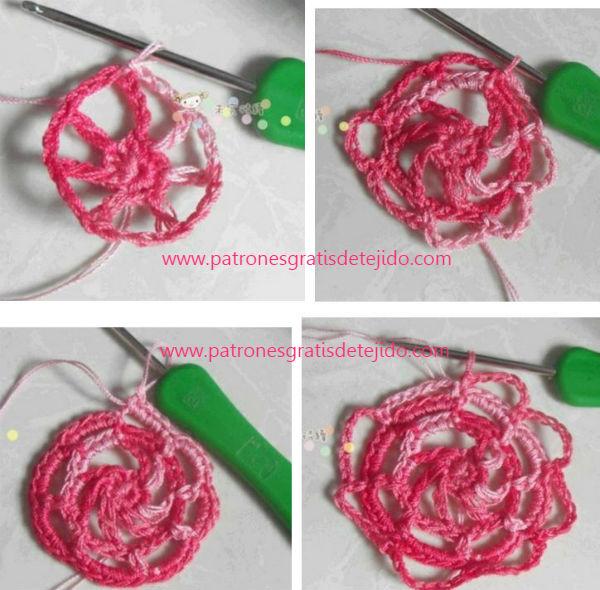 Cómo Tejer Blusa con centro de rosa / Paso a paso Crochet | Crochet ...