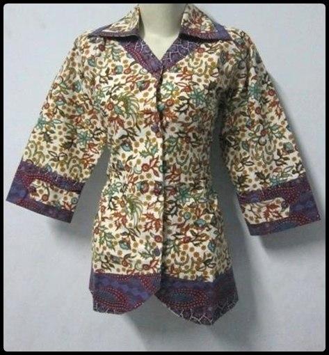 Kemeja Batik Mega Mendung Wanita: Model Kemeja Batik