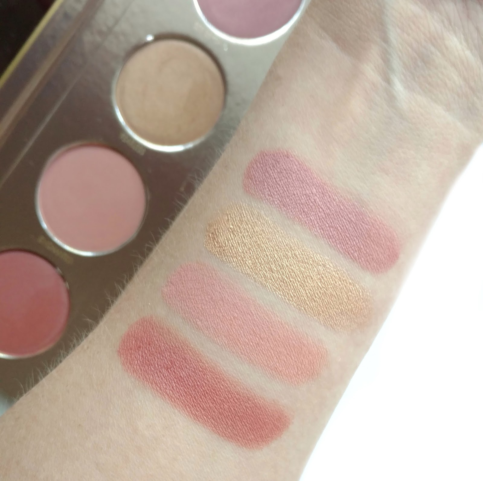 Lorac Beauty and the Beast Cheek Palette Swatches