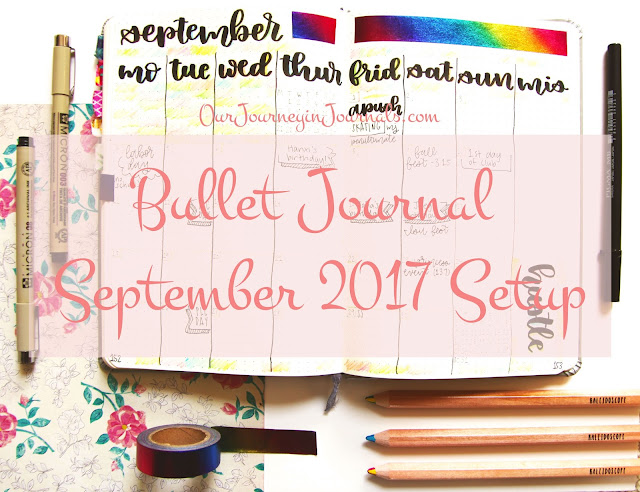 Bullet Journal September 2017 Setup