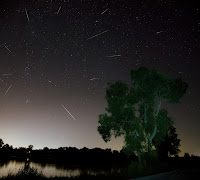 Perseid Meteors over Oakland