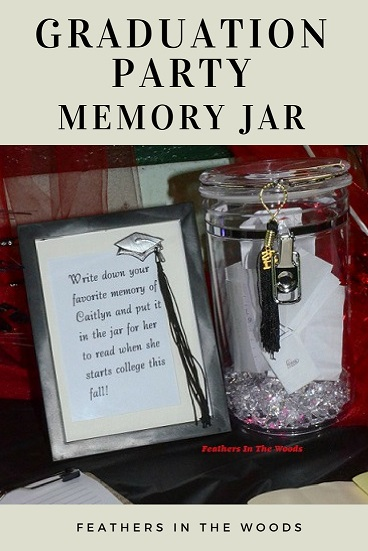 Graduation Party Memory Jar Feathers In The Woods