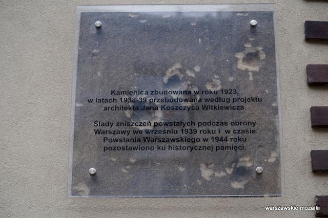 Warszawa Warsaw kamienica Mokotów architektura Mokotowa willa budynek Jan Koszczyc Witkiewicz tablica pamiątkowa