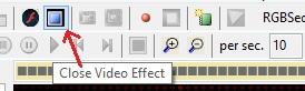close video Effect button
