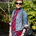Tartan and Denim | Cold Weather Spring Outfit