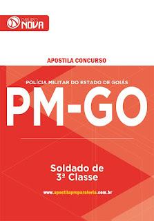 Apostila da PM de Goias Concurso PMGO Soldado de 3ª Classe. Grátis Simulados.