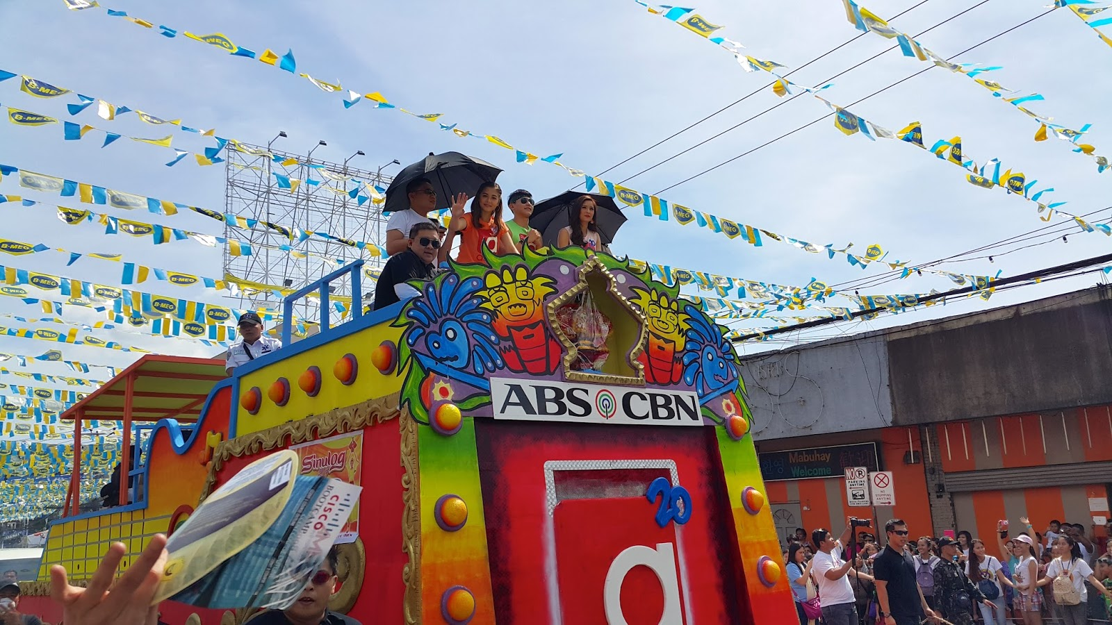ABS-CBN float at the Sinulog 2015