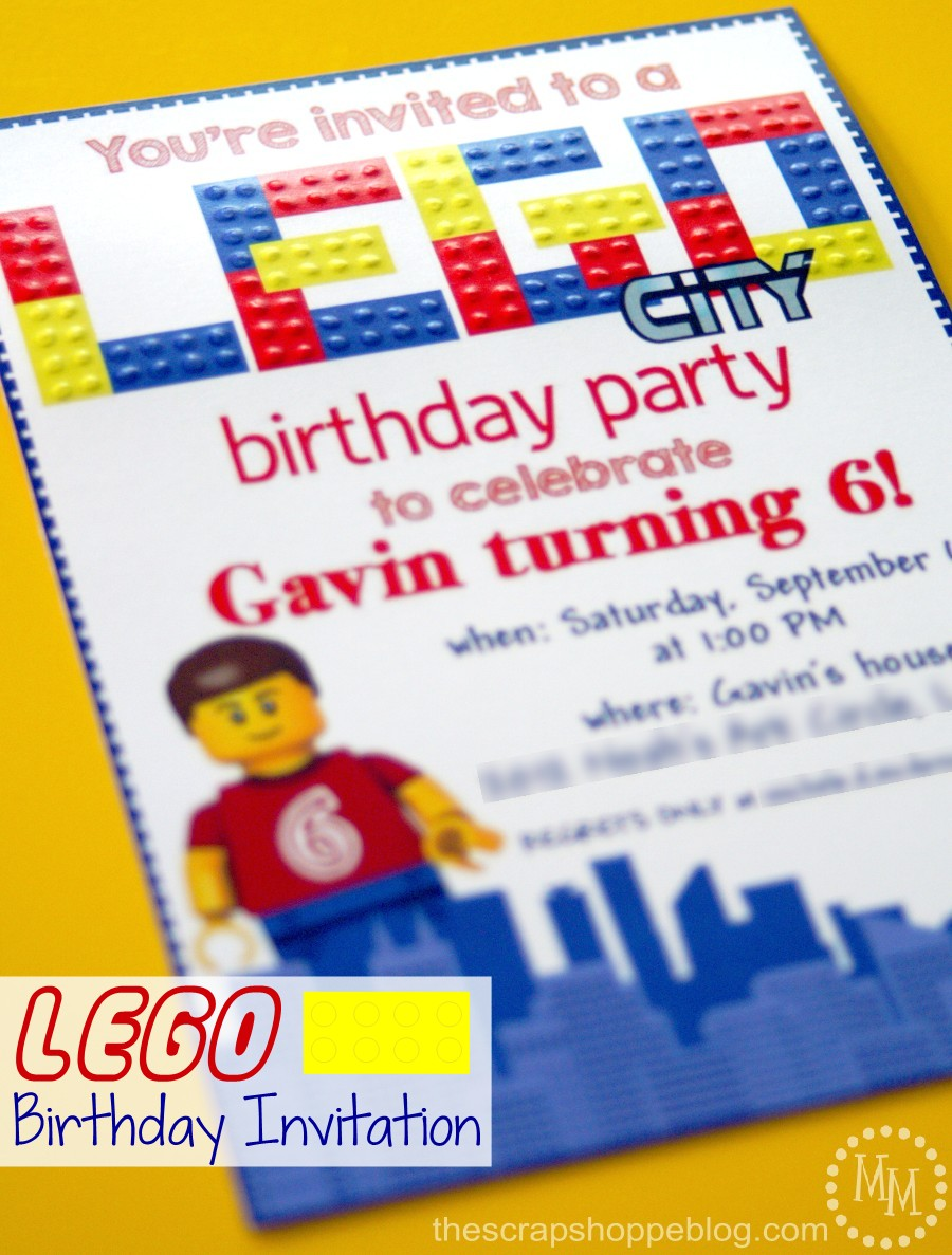 lego birthday invitations the scrap