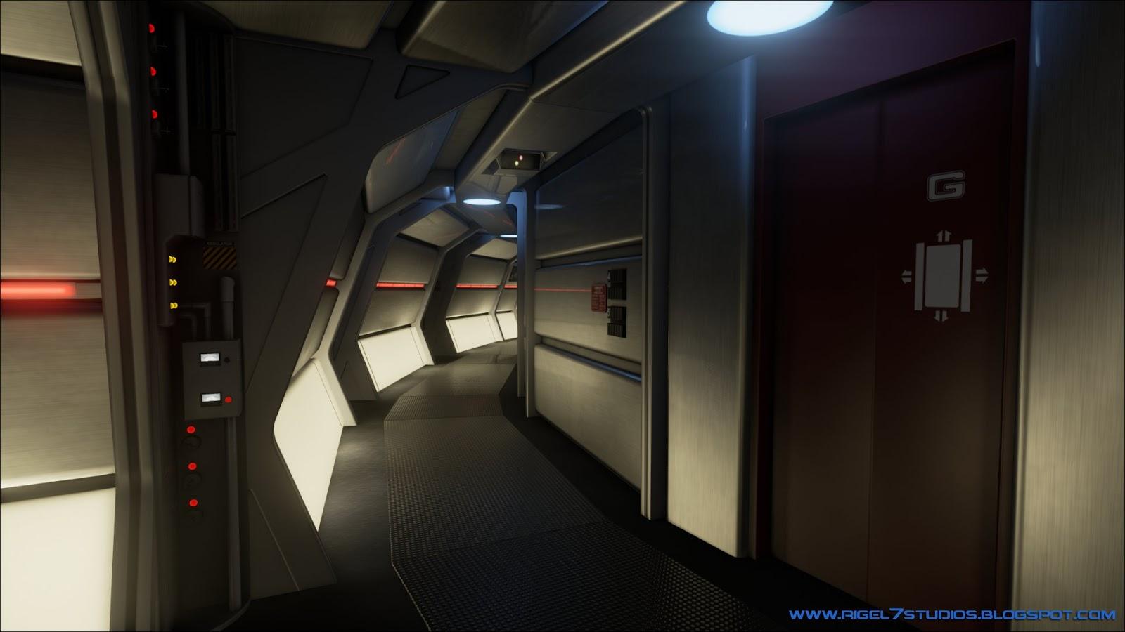 Excelsior Interior Corridor. | Star trek ships, Star trek ... |Uss Enterprise Corridors