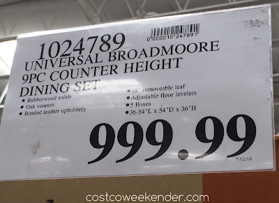 Costco 1024789 - Deal for the Universal Broadmoore Counter Height Dining Set at Costco