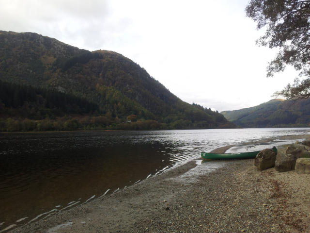 Scottish loch with kayak