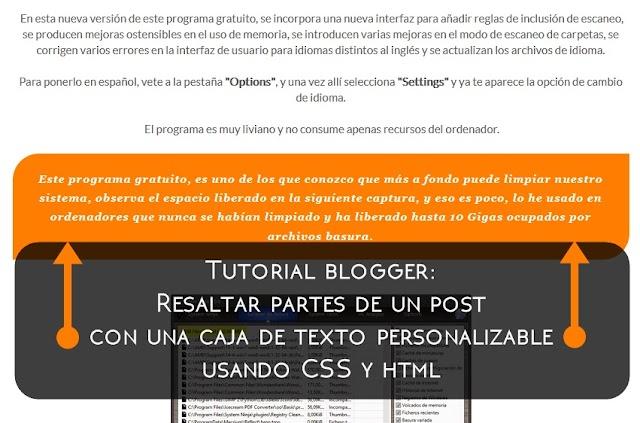 Caja de texto personalizable en blogger con CSS y HTML