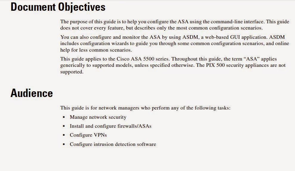 Cisco ASA 5500 Series Configuration Guide using the CLI