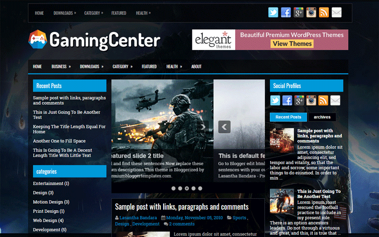 GamingCenter Free Blogger Template