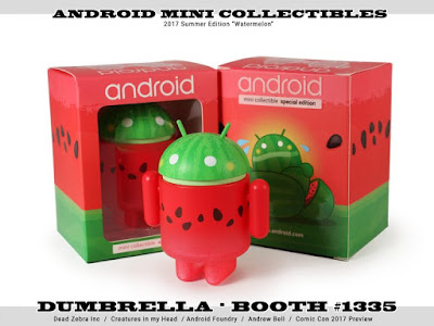San Diego Comic-Con 2017 Exclusive Watermelon Android Mini Figure by Andrew Bell