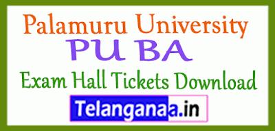 Palamuru University BA Exam Hall Tickets Download